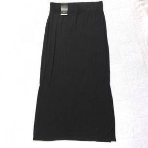 ANA Women's Black Long Stretchy Skirt